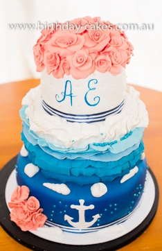 Marine Wedding Cake