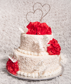 Butterflies and Roses Wedding Cake