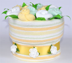 Flower Pot Nappy Cake