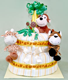 Jungle Nappy Cake