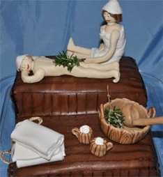 Sauna Birthday Cake