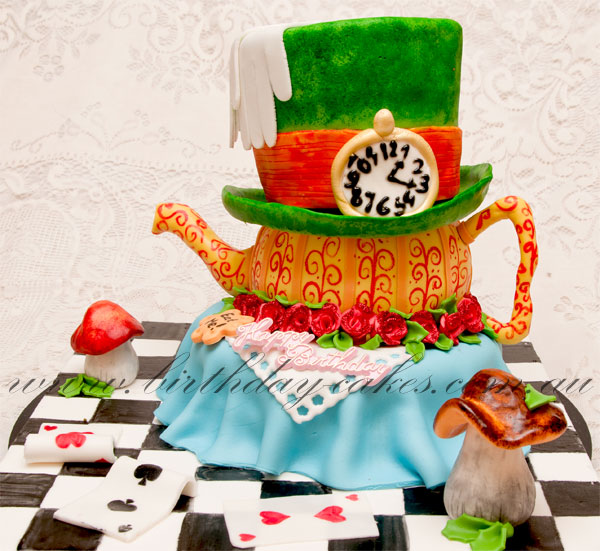 alice in wonderland birthday cake for girls