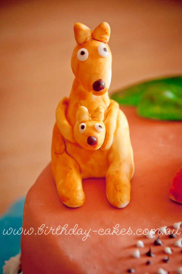 kangaroo cake decorations