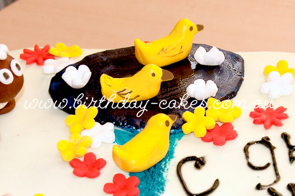 fondant ducks cake decorations