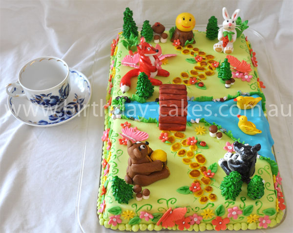 Forest Animals Birthday Cake