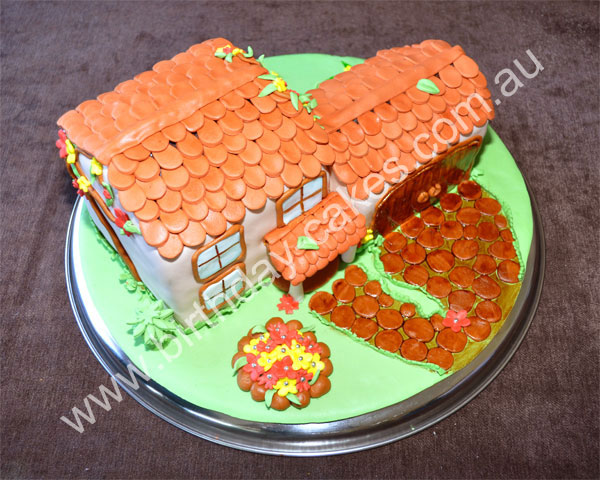 house birthday cake