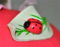 fondant ladybird decoration