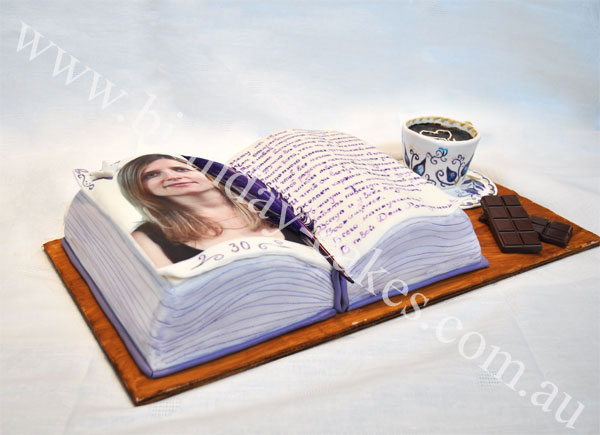 novelty book cake