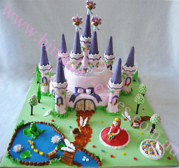 Groovy Princess Castle Cake Personalised Birthday Cards Petedlily Jamesorg