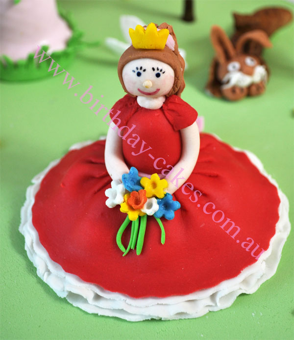 fondant princess cke deocrations