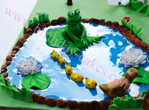 frog ducks cake decorations