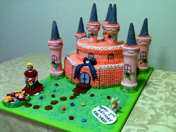 castle birthday cake for girls