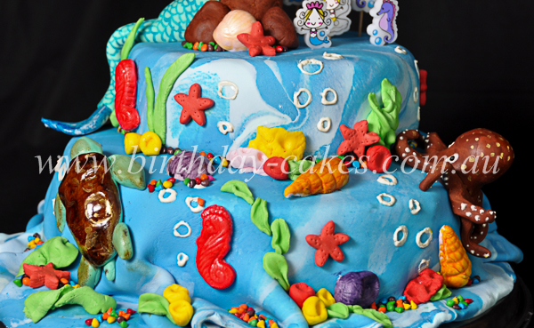 sea cake decorations