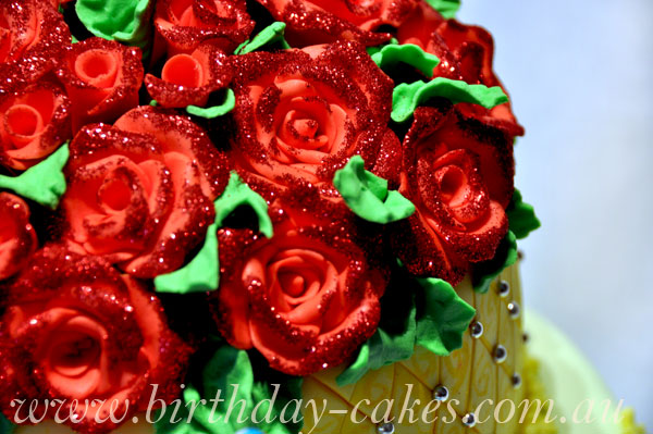 fondant roses decorations