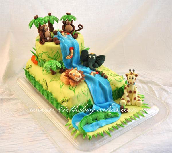 Terrific Jungle Birthday Cake Funny Birthday Cards Online Inifodamsfinfo