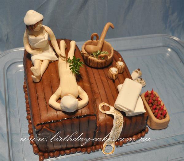 Sauna Birthday Cake