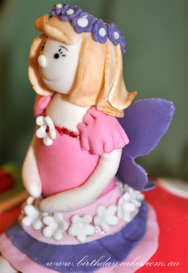 fondant fairy cake decoration