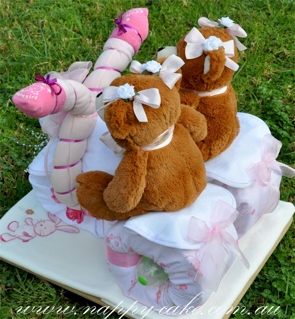 tricycle nappy cake