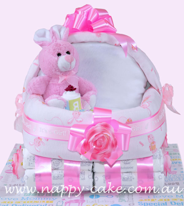 nappy cake for girls