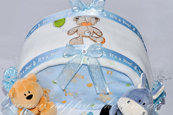 baby shower nappy cake