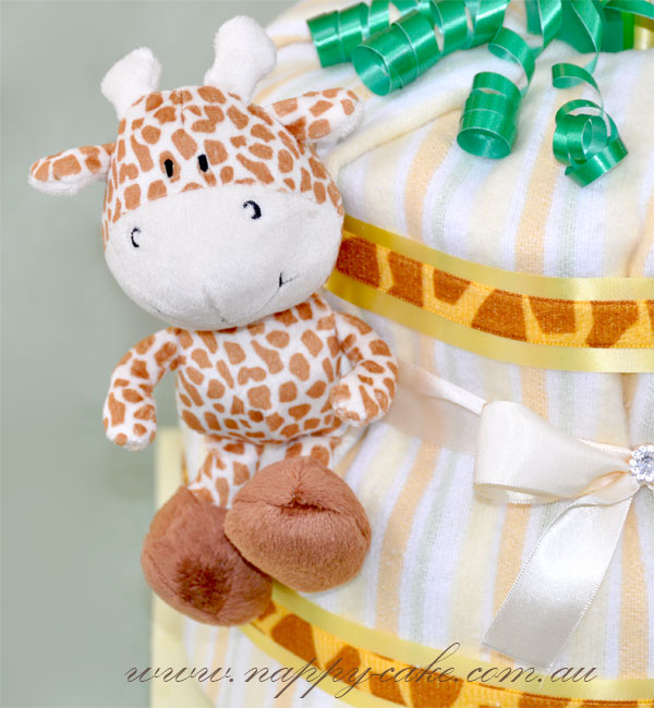 jungle animals nappy cake for baby